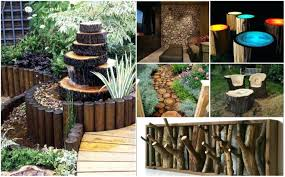 Cozy Rustic Outdoor Decor Images Photo Of Garden Ideas Log Decorating For