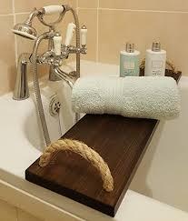 borewood badewanne caddy tray rack brücke kiefer massiv holz handgefertigt aus holz mit seil griffe englische eiche