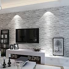 Imitation Brick Wall Pattern Looks Real Up Wallpaper 2086 Inches By 3937 Long Murals PVC Vinyl Dimensional 3D Gray Paper TV Living Room