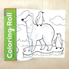 Mudpuppy De 10 Pies Para Colorear Animales Roll Diversión