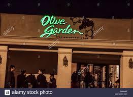 An Olive Garden Restaurant in Northridge California Stock