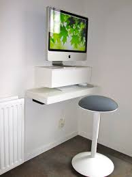 Computer Monitor Arms Desk Mount by Furniture White Floating Computer Desk With Slading Keyboard