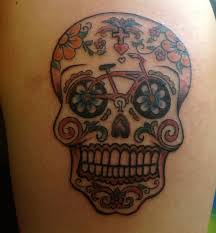 Bike Sugar Skull Tattoo