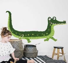 aufkleber wildes tier wandelndes krokodil