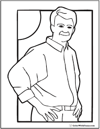 Fathers Day Coloring Dad On A Sunny Afternoon FathersDayColoringPages And KidsColoringPages At