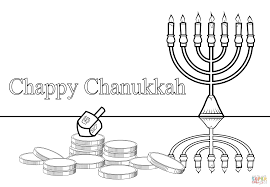 Chanukah Coloring Pages Chappy Page Free Printable Line Drawings
