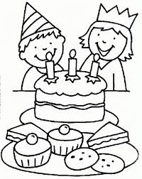 Birthday Party Coloring Page Pages Ideas Photo And With