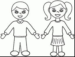 Great Boy And Girl Coloring Pages With Beast