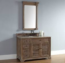 48 Inch Double Sink Vanity by Abstron 48 Inch Driftwood Finish Single Cottage Bathroom Vanity