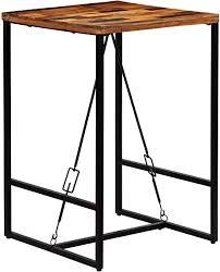 romelareu bartisch altholz massiv 70 x 70 x 106 cm möbel