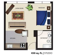 Efficiency Floor Plans Colors 450 Square Foot Apartment Floor Plan Efficiency Studio 400 Sq Ft
