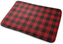 naizi klassische rot schwarz karierte badematte absorbiert