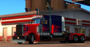 Optimus Prime For Peterbilt 389 Truck For ATS - Mod For American ...
