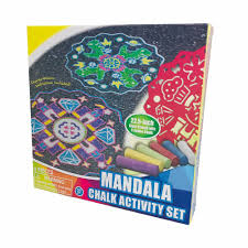 100 Chalks Truck Parts Mandala Chalk Activity 8 Pc Set Giant Stencil 6 Jumbo Chalk Art