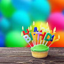 Download Happy Birthday Cupcakes With Candles Stock Image Image of fairy balloons