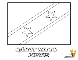 Saint Kitts And Nevis Flag Printables At YesColoring
