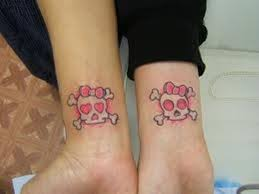 Girly Skull Tattoo On Wrist