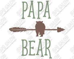 Papa Bear Arrow Custom DIY Iron On Vinyl Mens Shirt Decal Cutting File In SVG