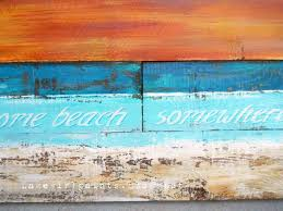 At The Designdreams Pallet Painting Beach By Anne I Want To Live Lighthouse Wood