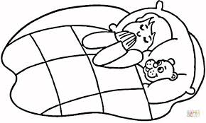 Click The Child Praying In Bed Coloring Pages