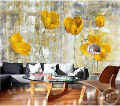 Yellow Flower Photo Wallpapers Murals Living Room Bedroom Wall Art Home Decor Painting Papier Peint 3d Floral Paper High Resolution Free
