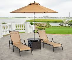 Patio Furniture Under 30000 by Monaco 4 Piece Chaise Lounge Set With Side Table And Umbrella