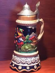 Steins Christmas Trees by Musical Beer Stein Made In Switzerland Couple Dancing Lidded Small