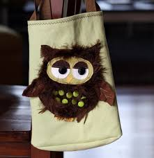 Cute Owl Car Floor Mats by Running With Scissors Owl Applique Tote