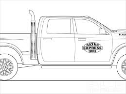Modest Ram Truck Coloring Pages Pickup Unique Dodge Trucks Th And ...