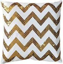 Decorative Couch Pillow Covers by Amazon Com Gold Foil Geometric Print Decorative Throw Pillow