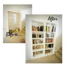 how to turn a closet into built in bookshelves diy ideas
