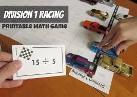 Division 1 Racing Printable Math Game