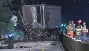 UPS Truck Bursts Into Flames Along Bucks County Construction Zone ...