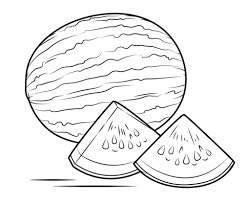 Click To See Printable Version Of Watermelon Coloring Page