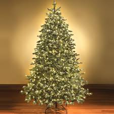 Pre Lit Flocked Artificial Christmas Trees by Christmas Tremendous Frasier Fir Artificial Christmas Tree Image