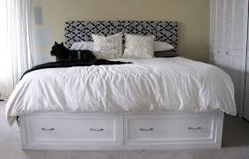 King Size Bed with Storage Drawers Headboards — Modern Storage