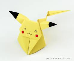 Origami Pikachu Tutorial Cute Pokemon