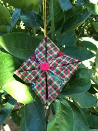 Folded Fabric Christmas Ornaments