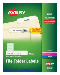 Food Product Labels Template Awesome Avery File Folder 2 3quot X 3 7 16quot