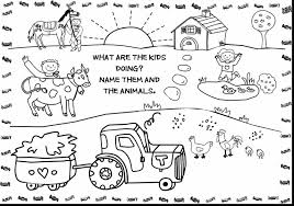 Awesome Printable Coloring Pages Farm Animals With Free For Kids And