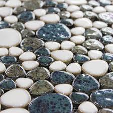 porcelain ceramic pebble mosaic tiles for bathroom shower kitchen