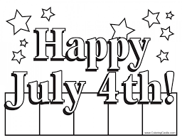 Download Fourth Of July American Flag Coloring Page Or Print