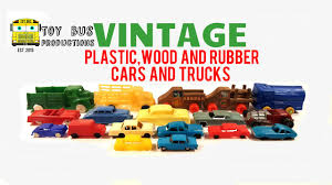 100 Toy Cars And Trucks VINTAGE Plastic Wood And Rubber Toy Cars And Trucks Mixed Brands