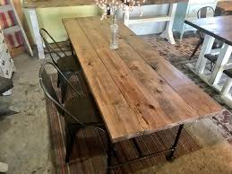 Industrial Style Farmhouse Table With Bench And Metal Chairs Black ... Farmhouse Table Emmworks Brand New Shaker Bench Set With Refurbished Farmhouse Chairs Monika S Custom Rustic And Chair Order Trestle Barn Wood Xstyle Legs Benches Etsy Glenview Ding 4 Side Chairs At Gardnerwhite Painted With Black Color Paired And Classic Fan Ecustomfinishes 34 Off Wayfair Urban Outfitters Farm 7ft Pedestal Long Metal Fruitwood Farm Chair Houston Tx Event Rentals Bolanburg 6 Piece Rectangular