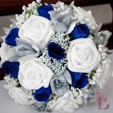 Disney Blue And Silver Wedding Colors Bouquet