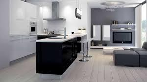 cuisine taupe et gris emejing cuisine noir et blanc et bois gallery lalawgroup us
