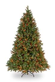 National Tree 75 Foot QuotFeel Realquot Downswept Douglas Fir With 750 Multicolored
