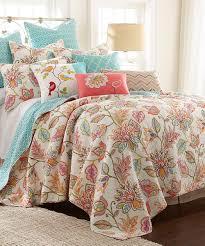 Lush Decor Serena Bedskirt by Red U0026 Orange Geometric U0026 Floral Quilt Set 5 18 Bohemian