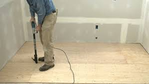 how to prep a plywood subfloor for tile fine homebuilding