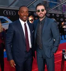 Anthony Mackie And Chris Evans Attend The World Premiere Of Captain America Civil War